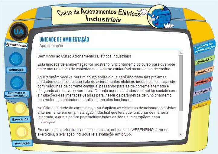 SENAI, ACIONAMENTOS ELÉTRICOS INDUSTRIAIS - EAD de e-learning para educação corporativa