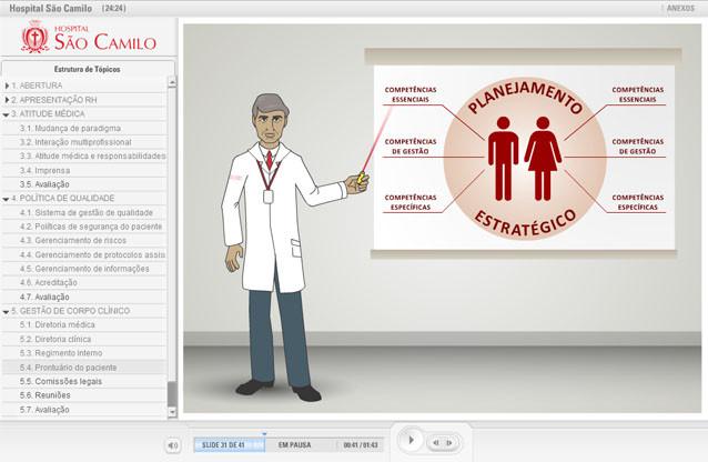 HOSPITAL SÃO CAMILO - EAD de e-learning para educação corporativa