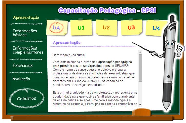 SENAI, CAPACITAÇÃO PEDAGÓGICA - EAD de e-learning para educação corporativa